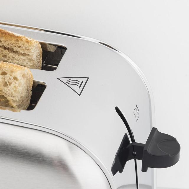 H. koenig Baguettes Toaster Pan 2 Slots Long and Wide, length 4 Slices, 1500 W, 3 Functions, 7 Levels roasting, Steel 4