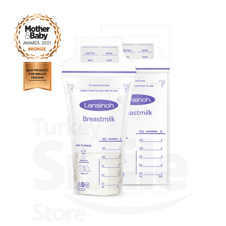 Lansinoh Breastmilk Storage Bags   Milk Freezer for Long Term Breastfeeding Storage   BPA Free   Safe Baby Food Breast Feeding