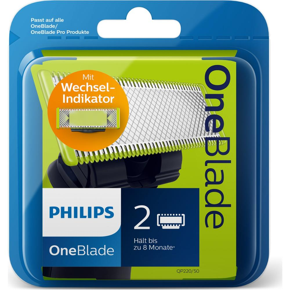 Philips OneBlade QP220 / 50 Replacement Blade 2 Pieces Original Fast Shipping