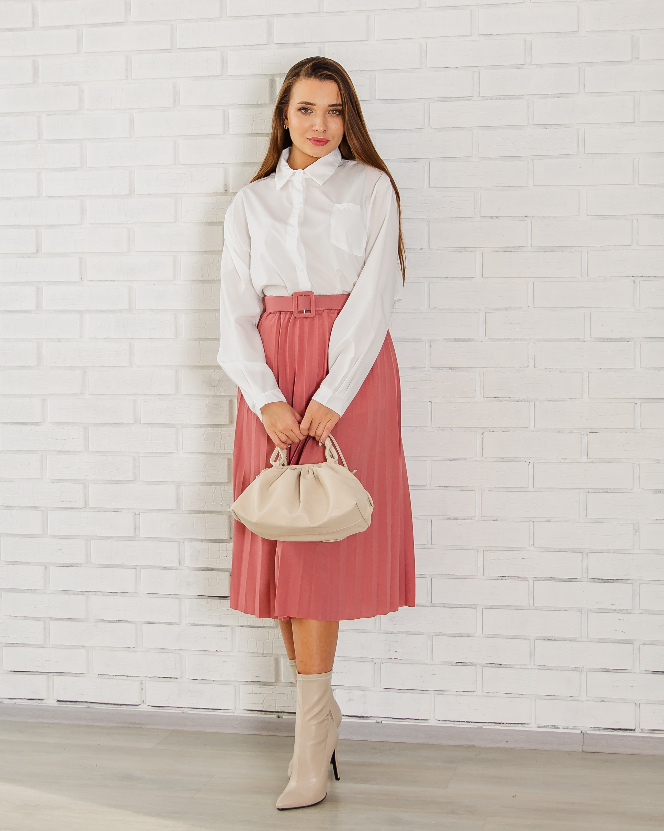 Pleated Skirt Beautiful Casual Evening Shipping From Russia Российское Production Emberens