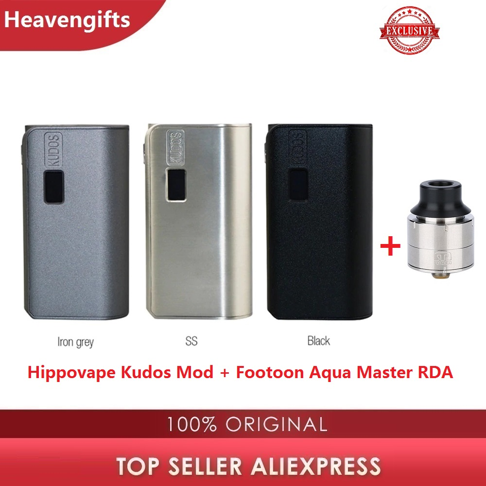 Exclusive Hippovape Kudos 80W Squonker MOD With 24mm Footoon Aqua Master RDA Power By 18650 Battery Vs Drag 2/ Aegis Solo/ GEN