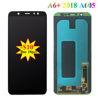 Super Amoled LCD For Samsung Galaxy A6 Plus 2018 A605 A605F Display Touch Screen A6+ A605FN A605G A605GN LCD module Digiziter