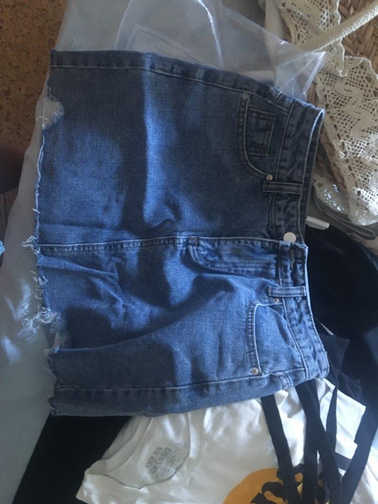 Summer Women'S Skirt Short Sexy Denim Skirts Womens Irregular Brushed Hem Jean Mini Skirt Fashion Streetwear High Waist Skirt photo review