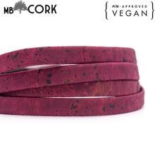 10mm plana vinho tinto cortiça cabo português cortiça jóias suprimentos/descobertas cabo vegan COR 355