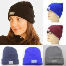 Bonnet Hats Beanie Hip-Hop-Caps Soft Fashion Women 5-Color Spring Knit Warm Elastic Breathable