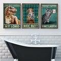 Анималистичные салфетки My Lord туалет, забавные постеры и принты животных, красивые стены, винтажные настенные картины на холсте, украшение д...