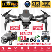Drone RC quadrirotor L109 Pro HD 4K, caméra à cardan biaxes, Anti secouement Stable, WIFI 5G, moteur sans balais FPV, longue Distance 1200m