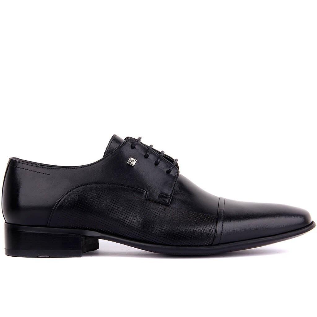 Fosco-Black Leather Neolit Men 'S Classic Shoes