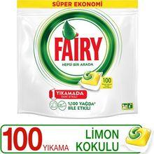 Fada tudo em um 100 lavar a máquina de lavar louça detergente cápsula limão perfumado