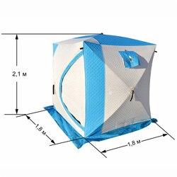 Tent 2019 reizen winter vissen vrije cube warm drie layer alle voor winter vissen 2-3 man 1,8 1,8 m