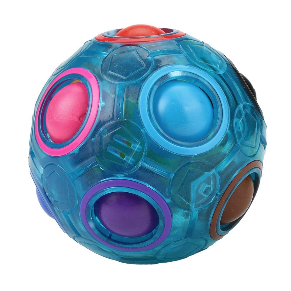 Fidget-Toys Magic-Ball Rainbow Pop-It Stress-Reliever Plastic for Children Zabawki Antysresowe img5