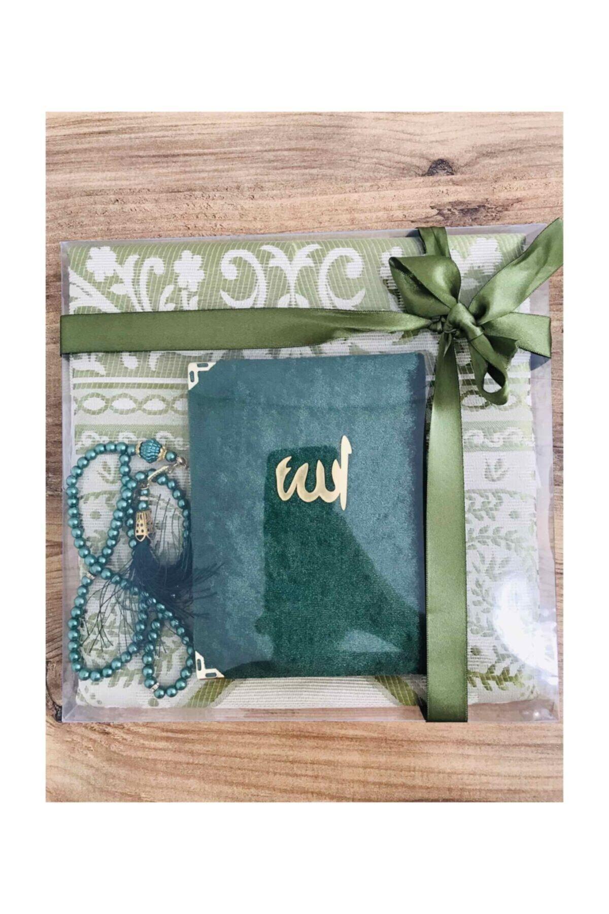 Prayer Rug Rosary Yaseen Book Gift Set (muslim islamic gift سجاد صلاة مسلم هدية إسلامية sijad salat muslim hadiat) mewlid Turkey