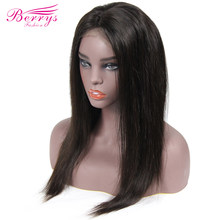4x4 Silk Base Straight Lace Front Human Hair Wigs Silk Top Pre Plucked Natural Baby Hairline Medium Cap Brazilian Virgin women(China)