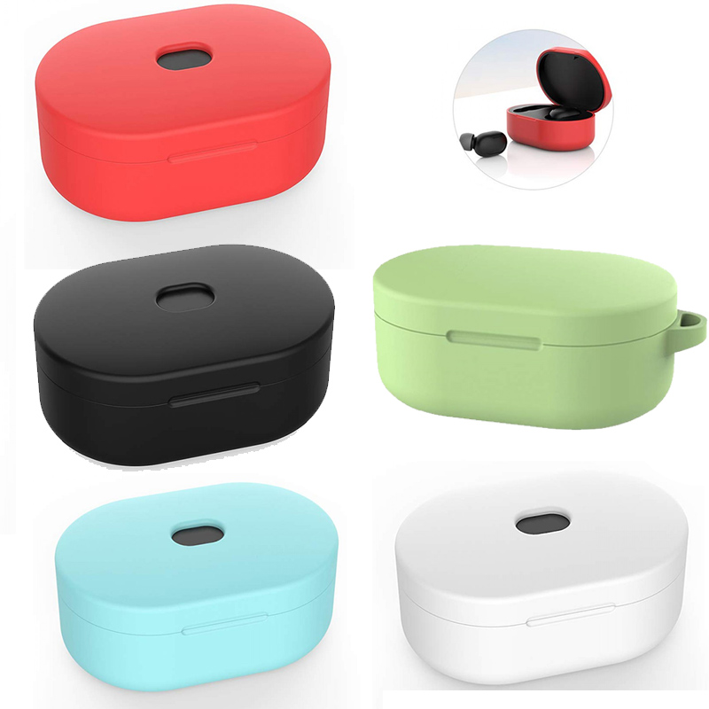 Xiaomi Redmi Airdots Silicone Case With Key Chain Multicolor Full Protection