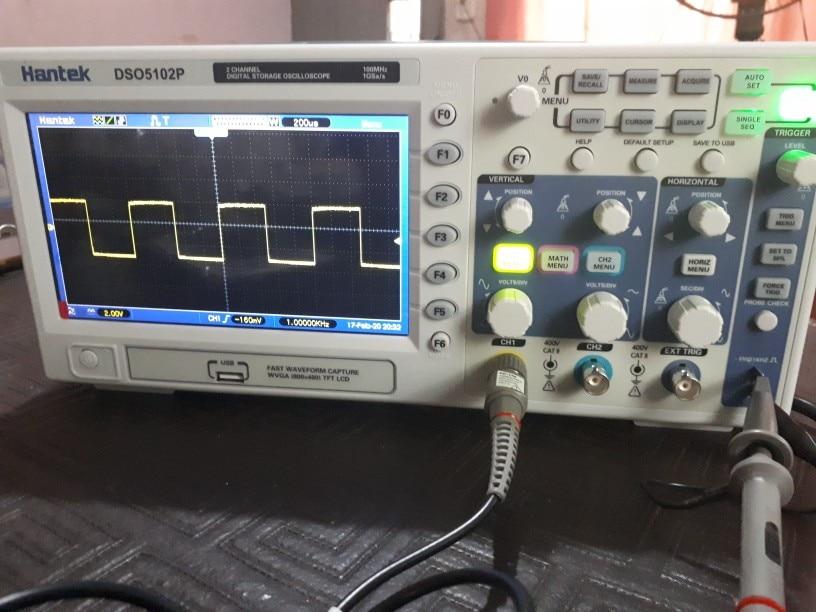 Osciloscopio  70MHz/ 100MHz/ 200MHz  2 canales  Digital Hantek photo review