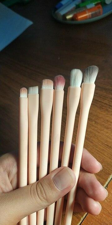 MSQ Eyeshadow Brush 6PCS Makeup Brushes Set Blending Eyebrow Lip Eye shadow Brush Synthetic Hair Cosmetic Make Up Tool Kits reviews №1 114824