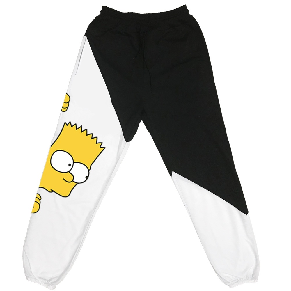Bart Simpson Funny Printed Sweatpants Cozy Trousers Jogger Pants With Drawstring