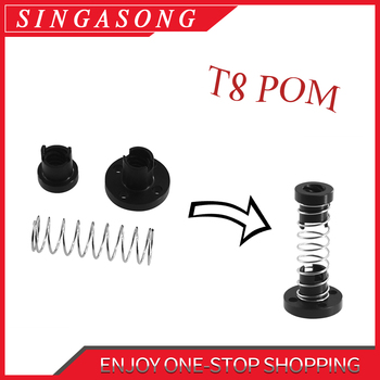 3D Printer T8 POM Anti Backlash Nuts For Lead 8mm Acme Threaded Rod Eliminate the Gap Spring DIY CNC Accessories image