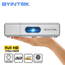 BYINTEK U50 3D 4K DLP Full HD 1080P Android Wifi inteligentny 2K TV przenośny dom Mini projektor LED Proyector na telefon komórkowy PC tanie tanio Automatyczna korekcja Korekcja ręczna CN (pochodzenie) 16 09 X2 0 500 ANSI lumens 1920x1080 dpi 500ANSI Lumens U50 Pro