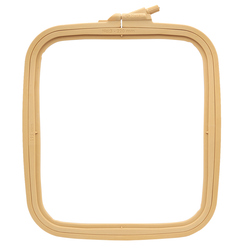 170-13 embroidery frame plastic square with screw 19,5*22 cm nurge hobby