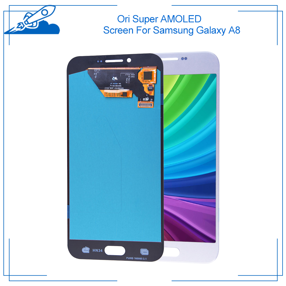 Ori For Samsung Galaxy A8 (2018) <font><b>A530F</b></font> (2016) A810 A800 Super AMOLED Display With Touch <font><b>Screen</b></font> Digitizer Assembly <font><b>Replacement</b></font> image