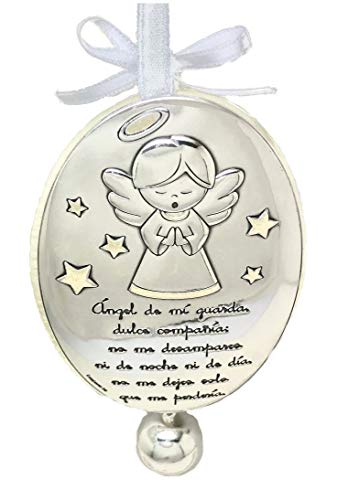 Docolastra Cradle Or Pram With Guardian Angel Locket With Precious Prayer And Callpoint De Angeles