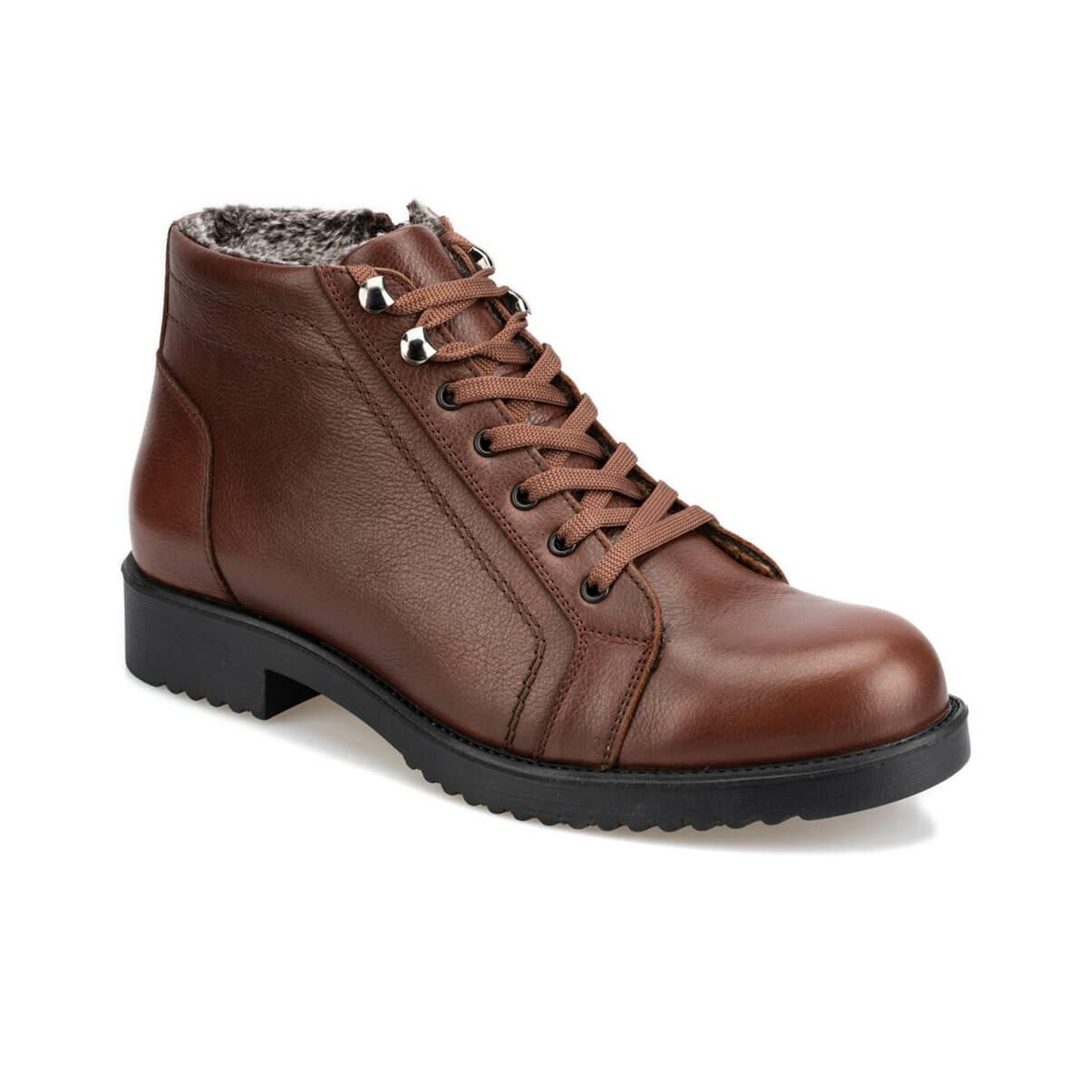 FLO Brown Black Men Boots Autumn Vinter Casual Leather Shoes Comfortable Durable Boots Мужские ботинки 92.110373.M Polaris 5 Nokta
