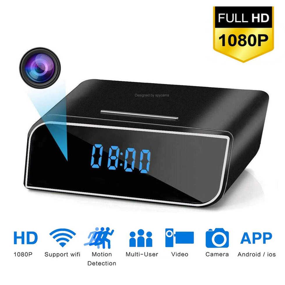 Reloj Nanny inalámbrico 1080P WIFI Mini cámara P2P IP/AP, micro cámara de seguridad con visión nocturna, Sensor de movimiento, compatible con vista remota