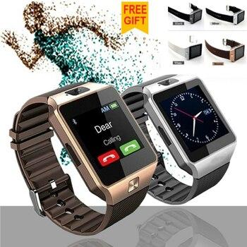 Wearable Bluetooth Smart Watch DZ09 Wristwatch 39mm Led Screen 2G SIM Card For Iphone Samsung Android smart phone Smart watch smart watch dz09 white