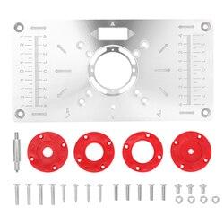 라우터 테이블 삽입 플레이트 트리머 조각 기계 목공 벤치 Bosch GKF550 RT0700C 용 목공 도구
