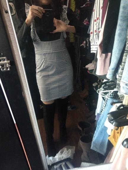 Fashion Women Dress Check Dog Tooth Frill Ruffle Pinafore High Waist Bodycon Party Mini Dress Holiday Casual Slim Dress vestidos|Dresses|   - AliExpress