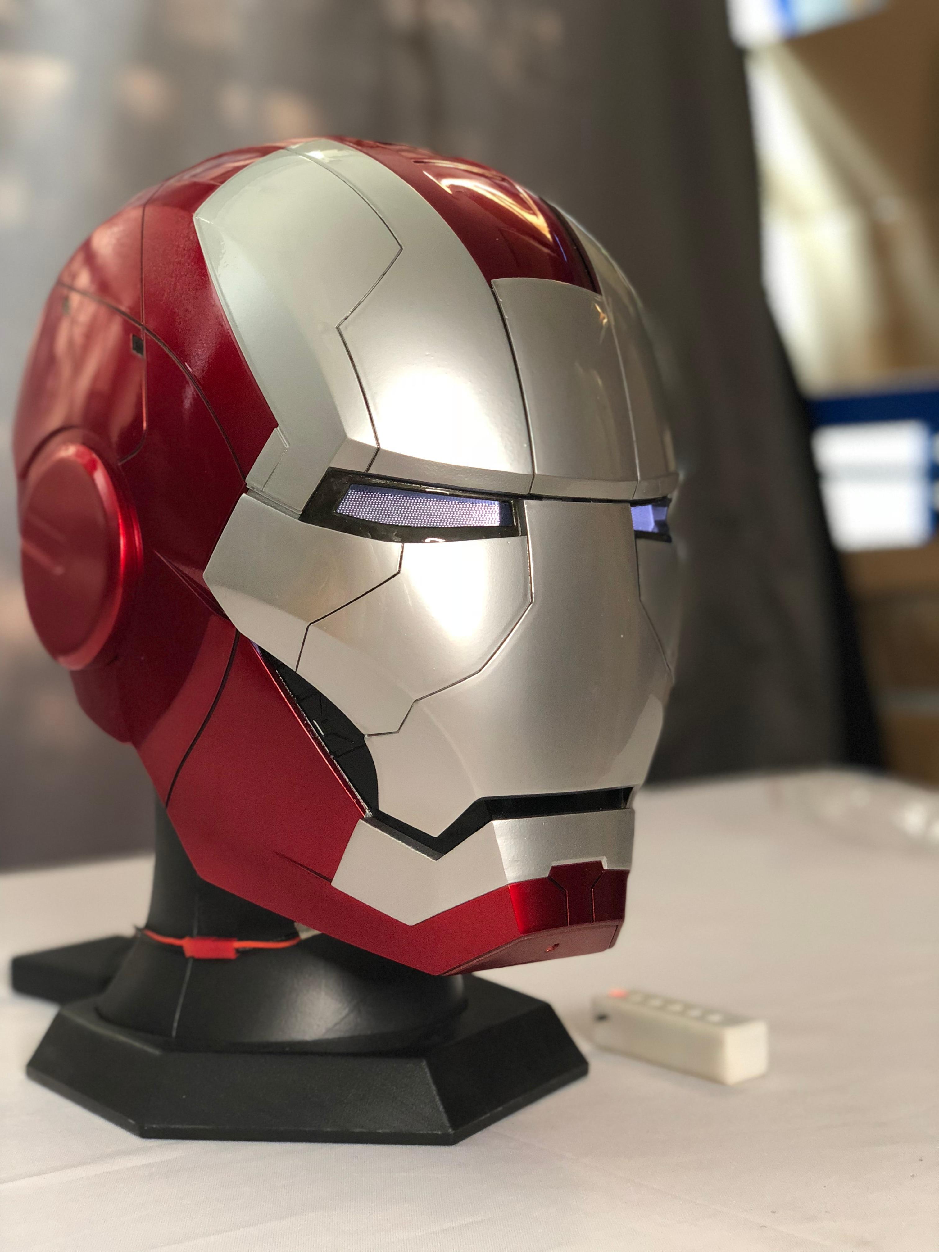 Iron Man Mk5 Helmet With Advanced Motorized Face Plates Aliexpress