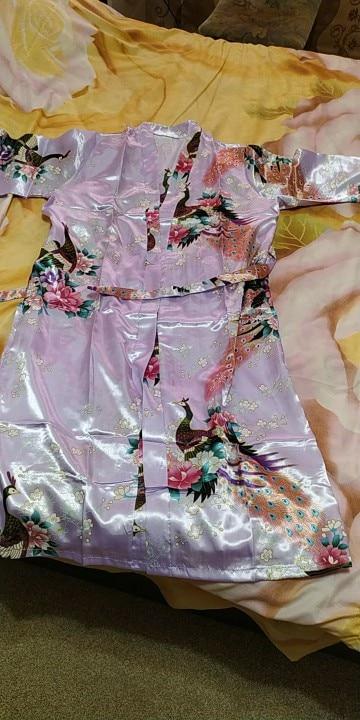 RB015 Satin Robes for Brides Wedding Robe Sleepwear Silk Pijama Casual Bathrobe Animal Rayon Long Nightgown Women Kimono XXXL