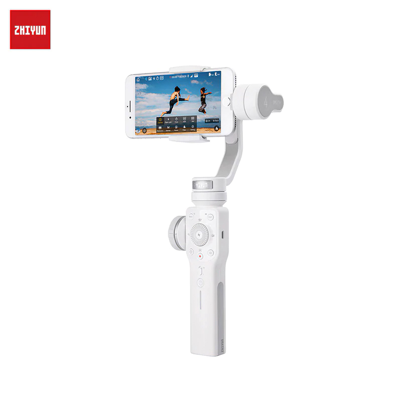 Handheld 3-Axis Stabilizer for Smartphone ZHIYUN Smooth 4 White Smartphone Gimbal Stabilizer VS Smooth Q Model for iPhone X