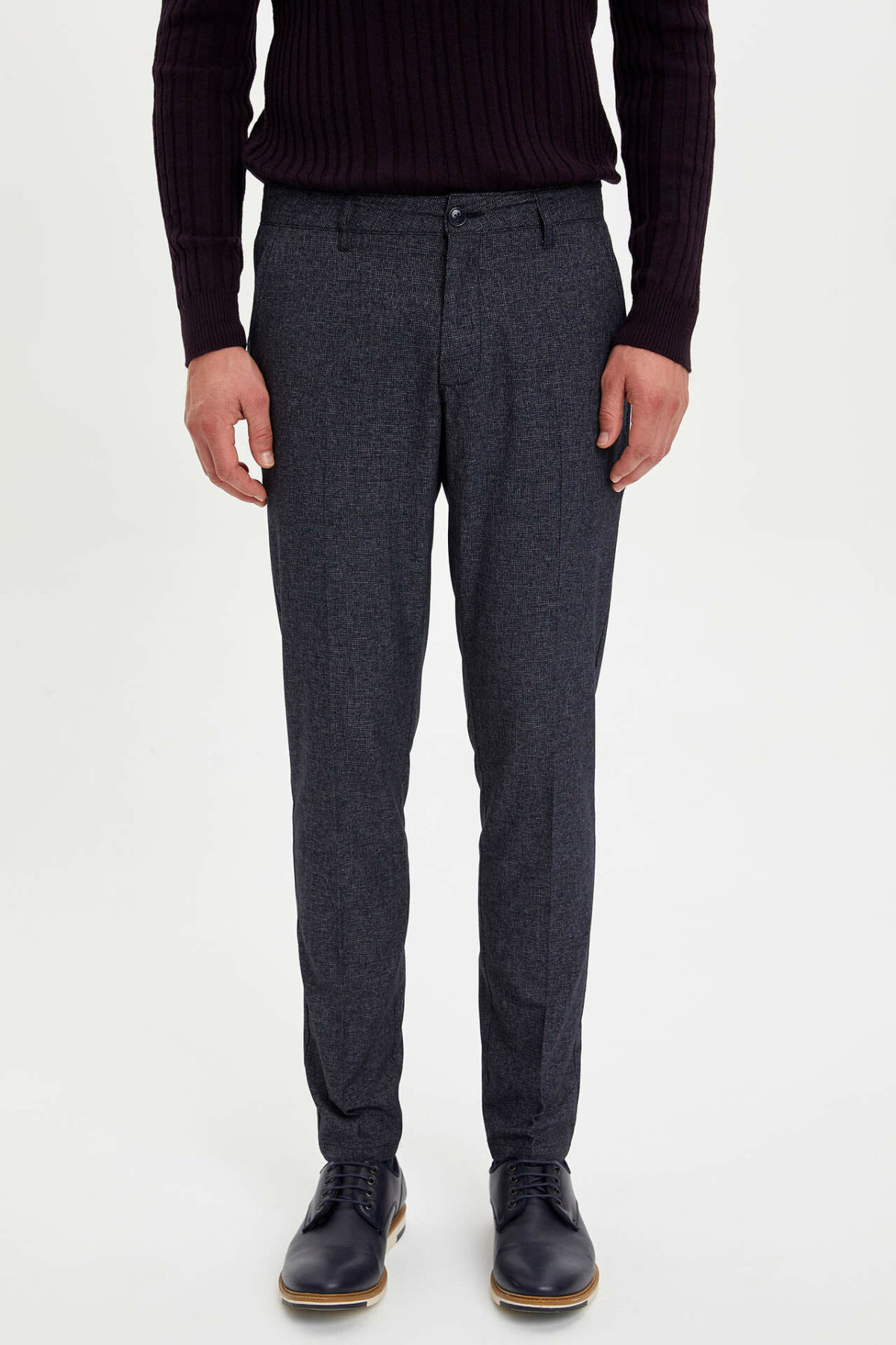 DeFacto Man Winter Thick Black Long Pants Men Smart Casual Pants Male Straight Bottoms Trousers-M2350AZ19WN