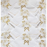 22 pcs Kitchen Set Made in Turkey GOLD Flower Embroideried Lace Tablecloth Oven Cover Curtain Apron Napkin Fridge Portion