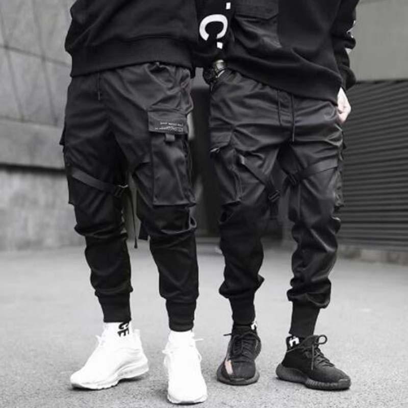 Harem Jogger Männer Cargo Pants Streetwear 2021 Hip Hop Casual Pockets Track Pants Männliche Harajuku Fashion Tactical Hosen fallen