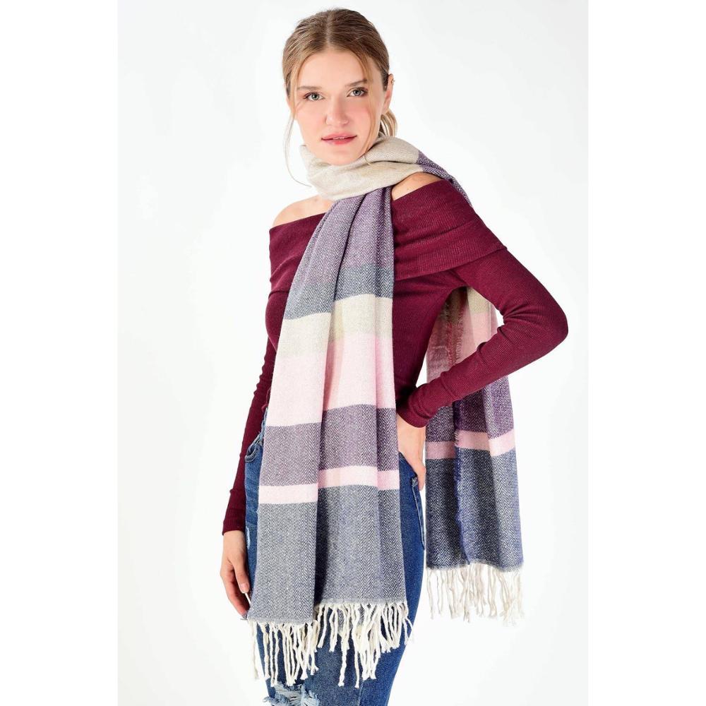 Autumn Winter Female Plaid Scarf Women Long Shawl Wrap Blanket Warm Tippet