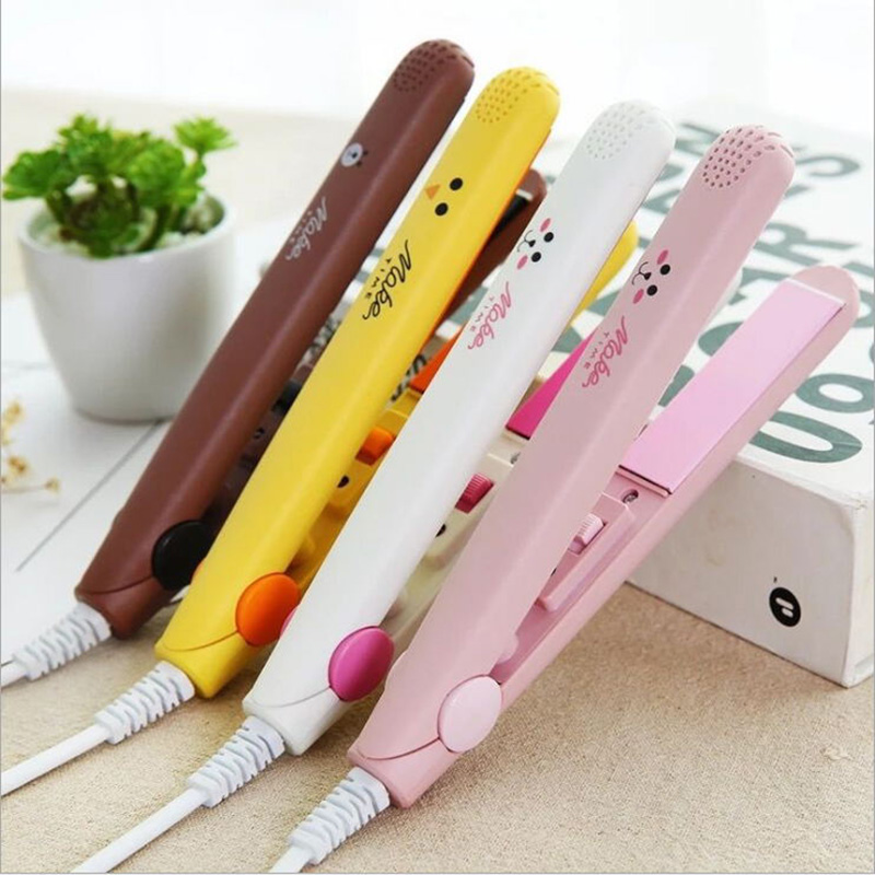 Mini Perm Plate Curling Iron Straight Volume Dual-use Ceramic Hair Straightener Corrugated Hair Curler Styling Tool Curler