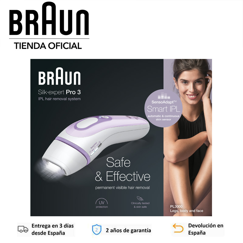 Braun Silk Expert Pro IPL3000, IPL3012, IPL5014, Depiladora de Luz Pulsada IPL, Depilación permanente, 400 000 Disparos|Depiladoras| - AliExpress