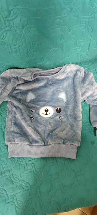 Baby Boy Girl Clothes Pajamas Set Flannel Fleece Toddler Child Warm Catoon Bear Sleepwear Kids Home Suit Winter Fall Spring 1-8Y photo review