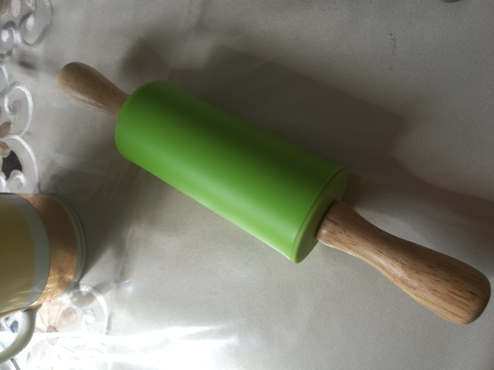 M Non-Stick Wooden Handle Silicone Rolling Pin Pastry
