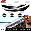 Cilia брови для Hyundai Solaris I 2010 ~ 2013  АБС-пластик  молдинги  светильник s  дизайн интерьера  светильник  Стайлинг автомобиля  декоративные аксессуар...