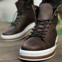 Chekich Boots for Men Boot Men's Winter Shoes Fashion Snow Boots Shoes Plus Size Winter Sne