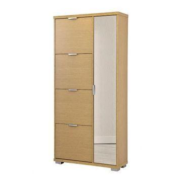 TOPKIT wooden mirror shoe cabinet home receiving shoe cabinet measures 175x81 5x28