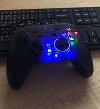 Awesome game pad for its price. Analog sticks are not so accurate as could be, but except