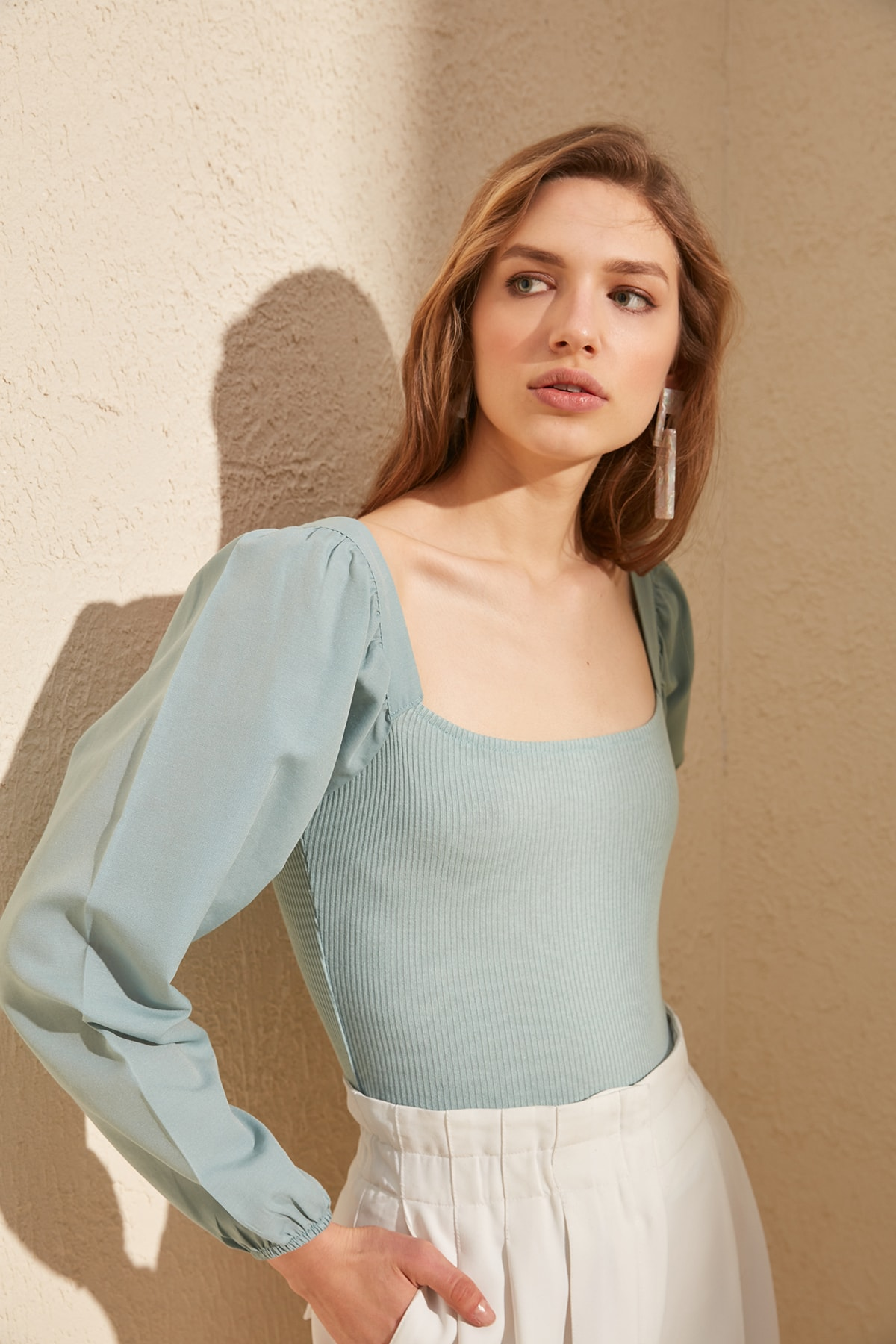 Trendyol Woven Detailed Knitted Blouse TWOSS20BZ0227