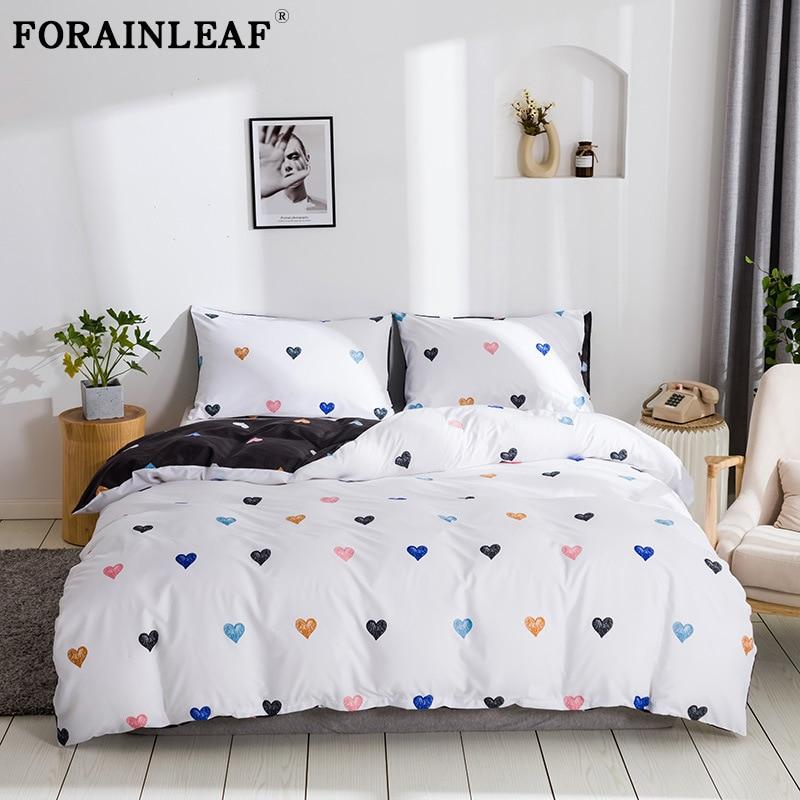 Граффити постельные принадлежности Сердце комплект с геометрическим рисунком пододеяльник набор 220x240 Nordic одной Queen King Стёганое одеяло крыш...