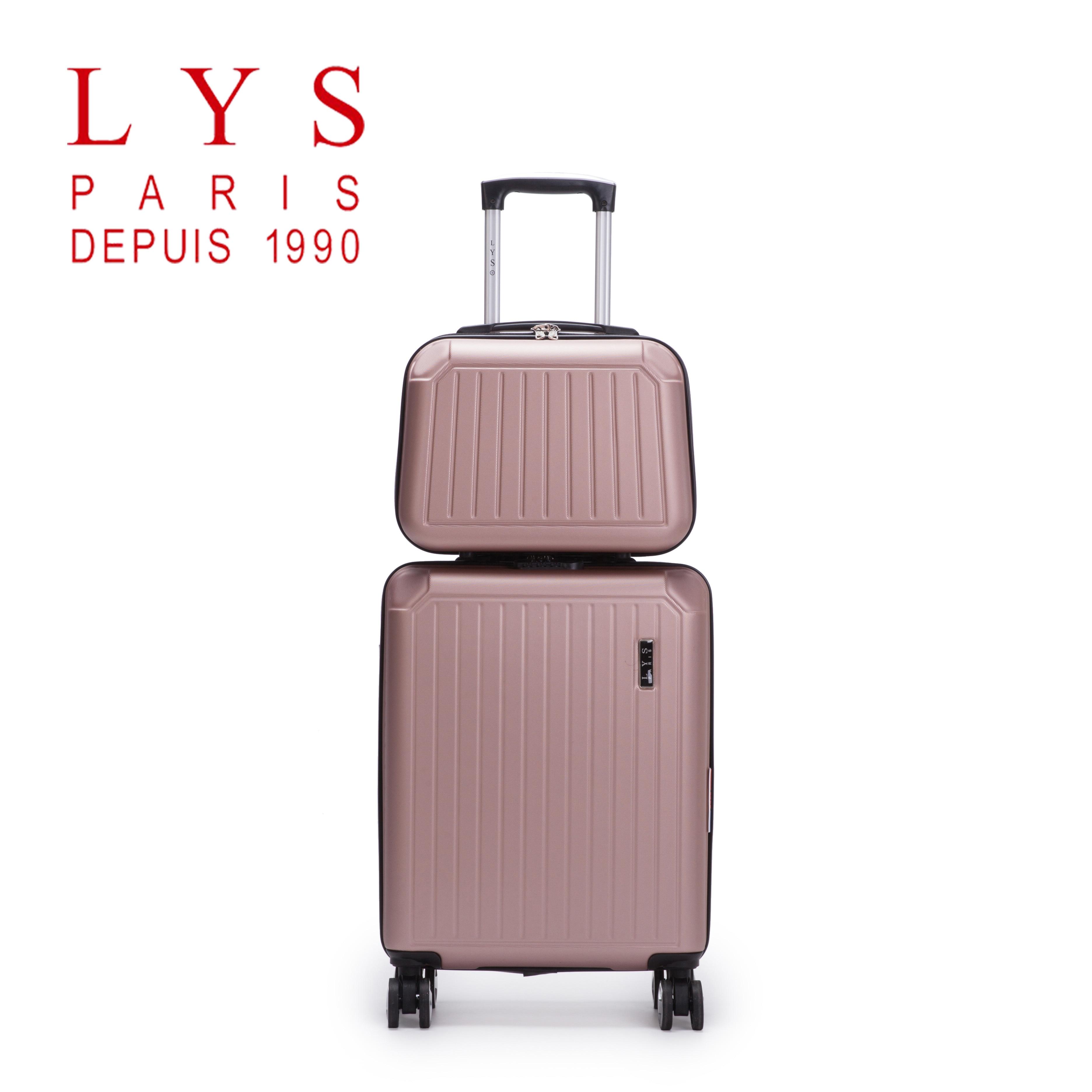 LYS - Set De 2 Valise Cabine 55cm Rigide 8 Roues Avec Vanity Case 35cm  Ensemble 2 Pièces