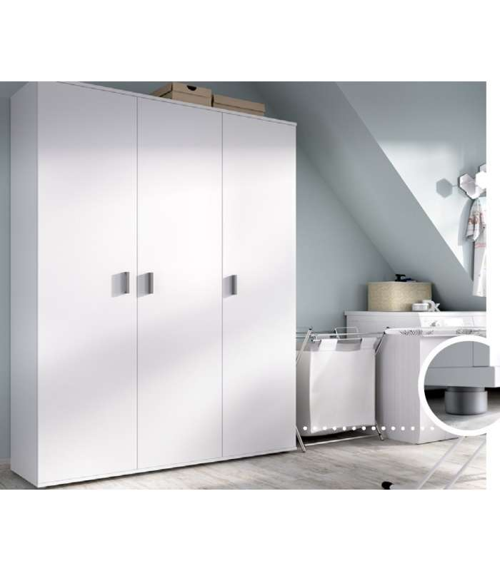 Wardrobe Multi-purpose White 3 Doors.